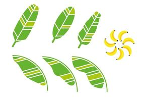 Künstlerische Banane Blatt Vektor