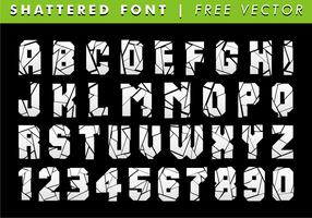Shattered Schriftart Freier Vektor