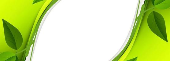 abstraktes grünes Blattwellenbanner