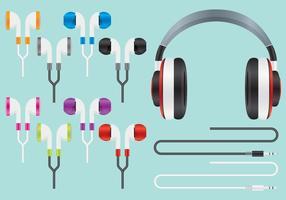 Ljud öron knoppar vektorer