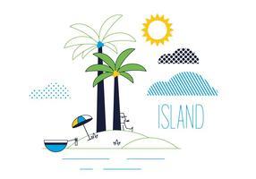 Gratis Island Vector