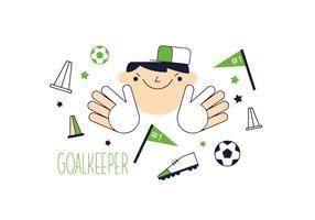 Gratis Goal Keeper Vector