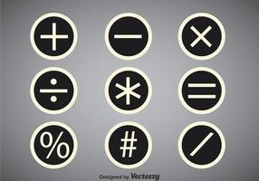 Mathe-Symbole Kreis-Vektor-Sets