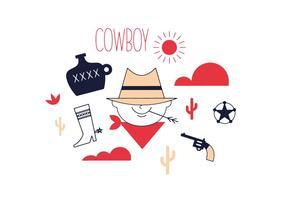 Kostenloser Cowboy-Vektor vektor