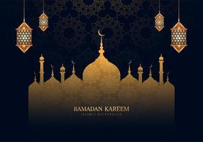 Ramadan Kareem schöne gemusterte Moschee Silhouette