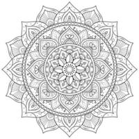 kreisförmiges Blumenmandala vektor