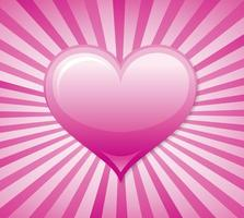 Sunburst Heart Vector Bakgrund