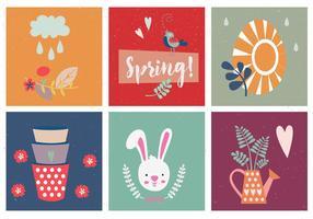 Frühling & Ostern Vektor Set