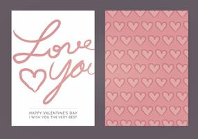 Älskar dig Vector Valentins dagkort