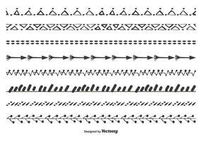 Söt handdragen vektorgränsuppsättning vektor