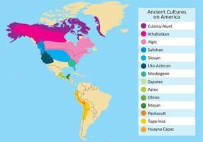 Vektor av antika kulturer i Amerika