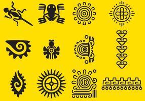 Vektor Inka-Glyphen