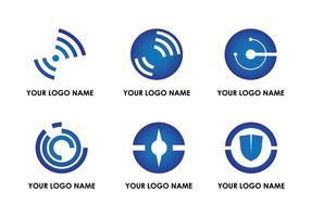 Zusammenfassung Techno Logo Vektoren