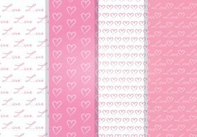Kärlek hjärta vektor sömlösa mönster