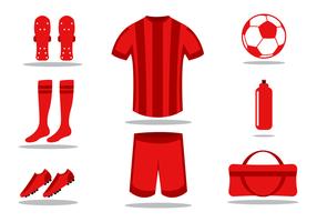 Gratis fotbollssats vektor