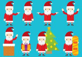 Santa vektorteckningar vektor