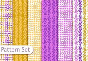 Bunte dekorative Textilmuster Design Set vektor