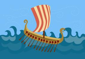 Viking ship free vector