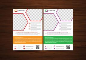 Vektor Broschyr Flyers design Layout mall i A4-storlek