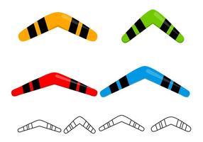 Free Boomerangs Set Vektor