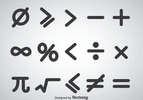 Matematiska symboler Vektor uppsättningar