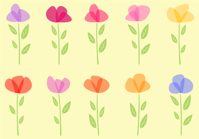 Gratis Blommor Vector