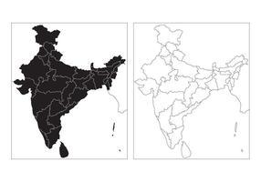 Freistaat Karte von Indien Vektor