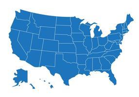 Fri statlig karta över oss vektor