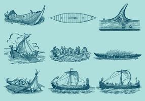 Antike Schiffsvektoren vektor