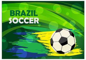 Brasilien Fotboll Bakgrund Vector