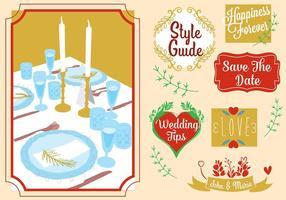 Kostenlose Hochzeitskarte Vektor-Elemente