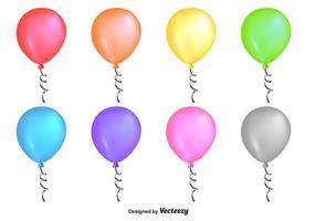 Glänsande Färgglada Vector Ballonger