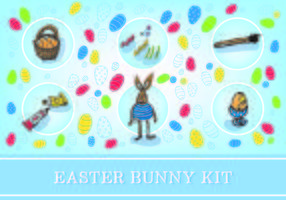 Ostern Free Bunny Kit Vektor