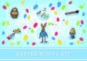 Påsk Gratis Bunny Kit Vector