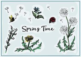 Freie Frühlingsvektor-Blumen