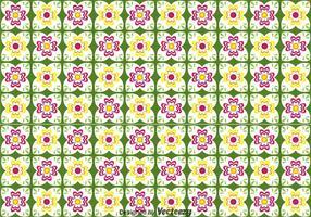 Talavera Blumen-nahtloses Muster