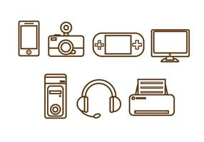 Freie Technologie Vektor Icon # 1