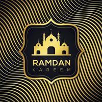 ramadan islamisk vågig gyllene linje bakgrund