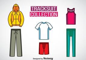 Trainingsanzug Farben Icons Vektor