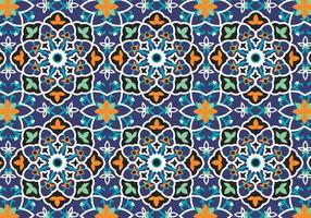 Mosaik Dekoration Muster Hintergrund vektor