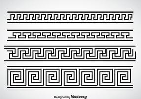 Griechische Schlüssel Schwarzer Rahmen Vektor Sets