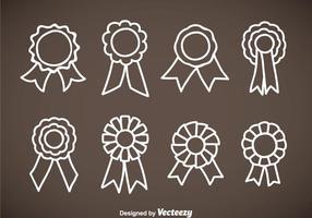 Cockade Hand gezeichnet Icons Vektor Sets