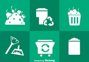 Müll weiße Icons