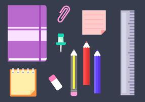 Free School Supplies Vektor