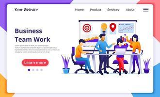 affärs teamwork koncept platt stil