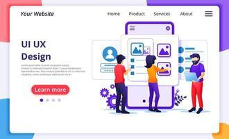 skapa ett applikationsdesignkoncept i platt stil