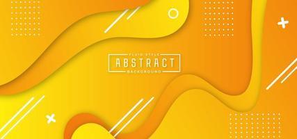 gelbe geschichtete fließende Form horizontales Banner