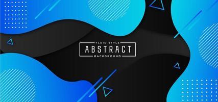 blå och svart vätskeformig horisontell banner vektor
