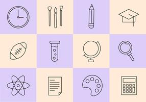 Kostenlose Schule Icons Vektor