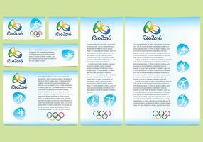 Blå Rio olympiska designvektorer